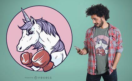 Diseño de camiseta de boxeo Unicornio