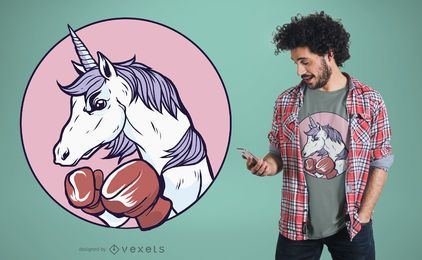 Unicorn Boxing T-Shirt Design