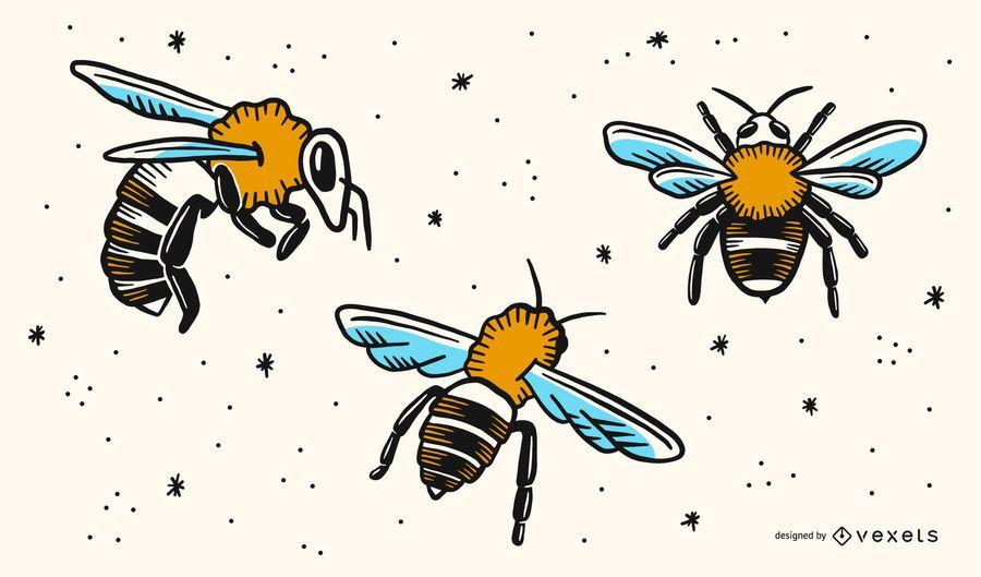 Vetores de abelha