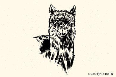 Lama-Ilustration