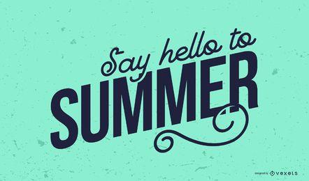 Banner de letras de verão