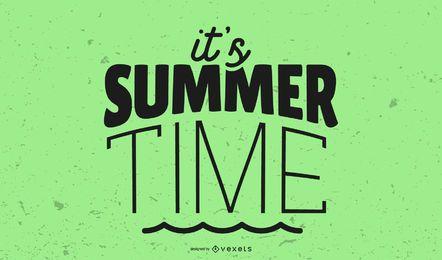 Es el título gráfico de horario de verano