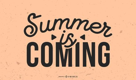 O verão está chegando título gráfico