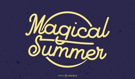 Título gráfico de verão mágico