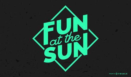 Diversão no Design Lettering Sun