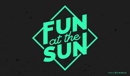 Fun at the Sun Lettering Design