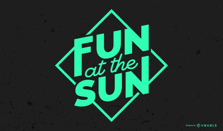 Fun at the Sun Lettering Design