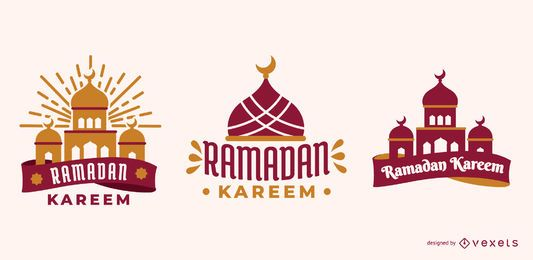 Ramadan Kareem Vector Set