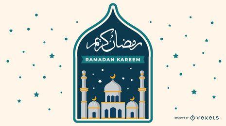 Diseño musulmán de Ramadán Kareem