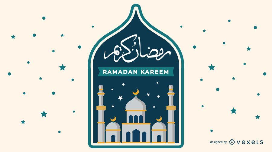 Musulmán Ramadan Kareem Design