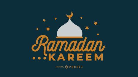Ramadán musulmán diseño de ilustración