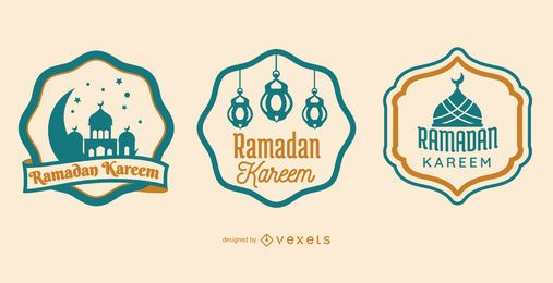 Ramadan Kareem Badges Set