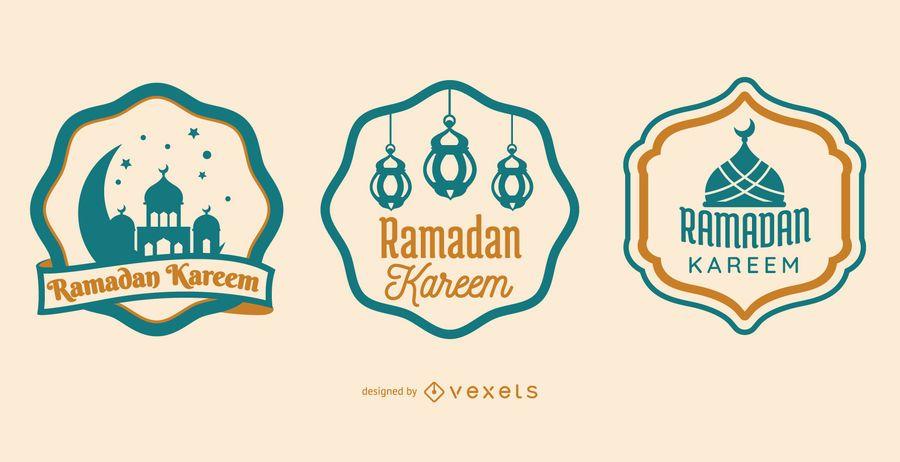 Ramadan Kareem Abzeichen Set