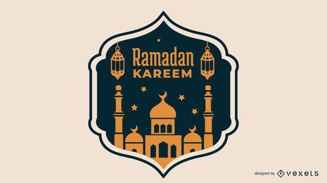Diseño de mezquita de ilustración de Ramadán