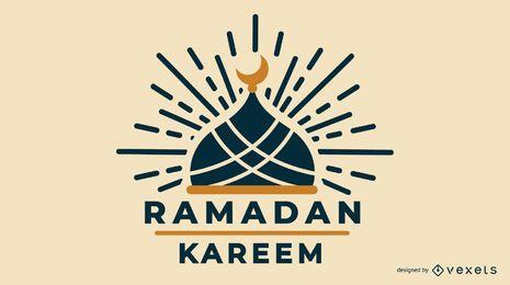 Diseño de Ramadán musulmán