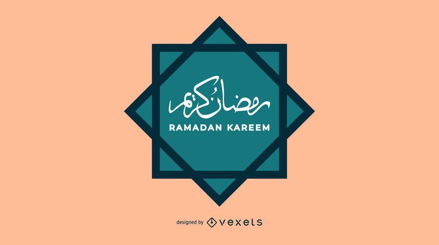 Árabe Ramadan Kareem Design
