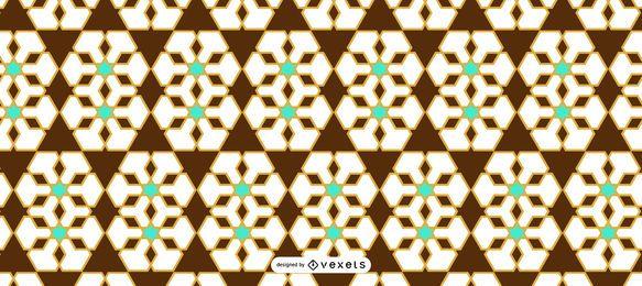 Patrón floral sin fisuras de ramadan