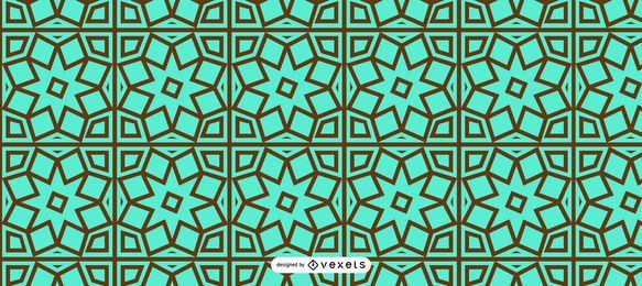 Design de padrão floral Ramadan sem emenda