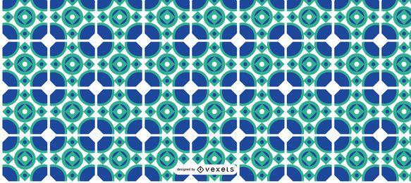 Blue Ramadan Kareem Pattern
