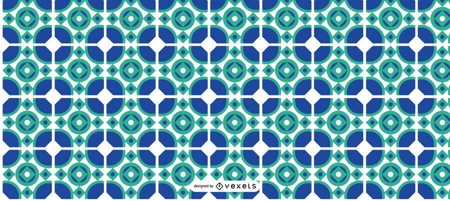 Patrón azul de Ramadán Kareem