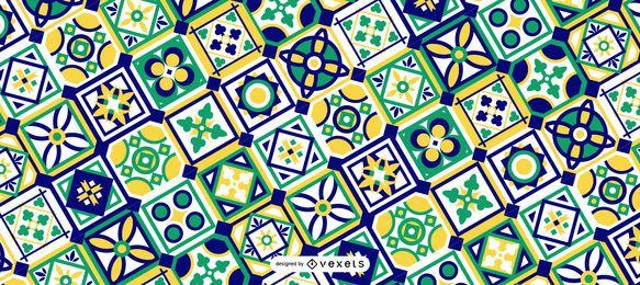 Design De Padrão De Ramadan Verde