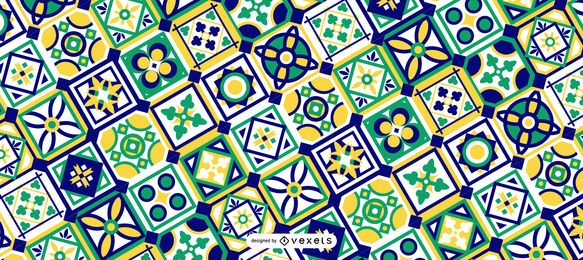 Green Ramadan Pattern Design
