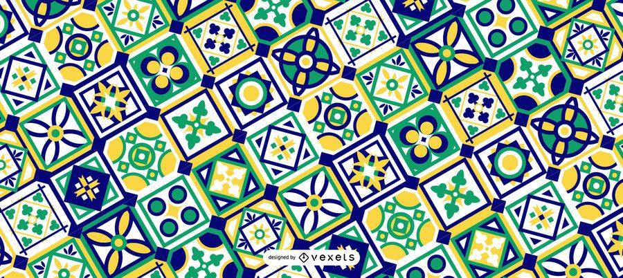 Green Ramadan Pattern Design