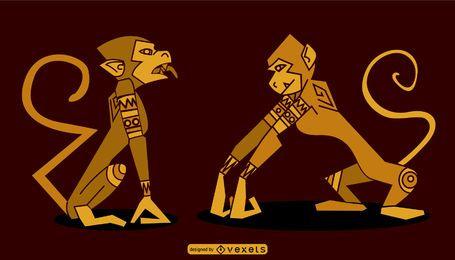 Design de macaco egípcio