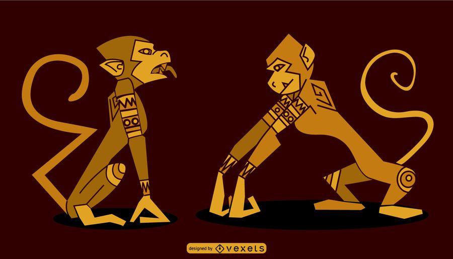 Diseño de mono egipcio