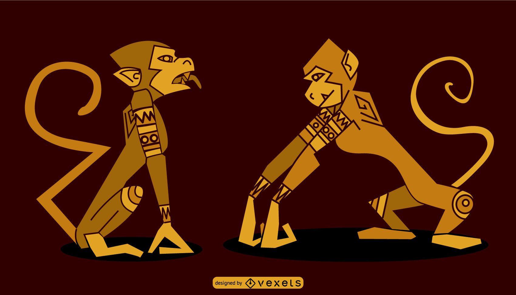 Egyptian Monkey Design