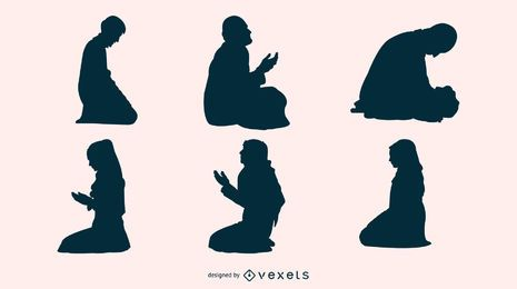 Ramadan Praying Silhouette