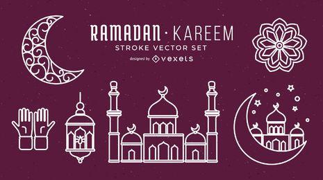 Conjunto de vectores de movimiento de Ramadán