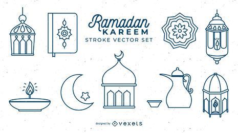 Conjunto de trazos de Ramadan Kareem