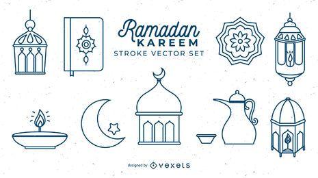Ramadan Kareem Schlaganfallset