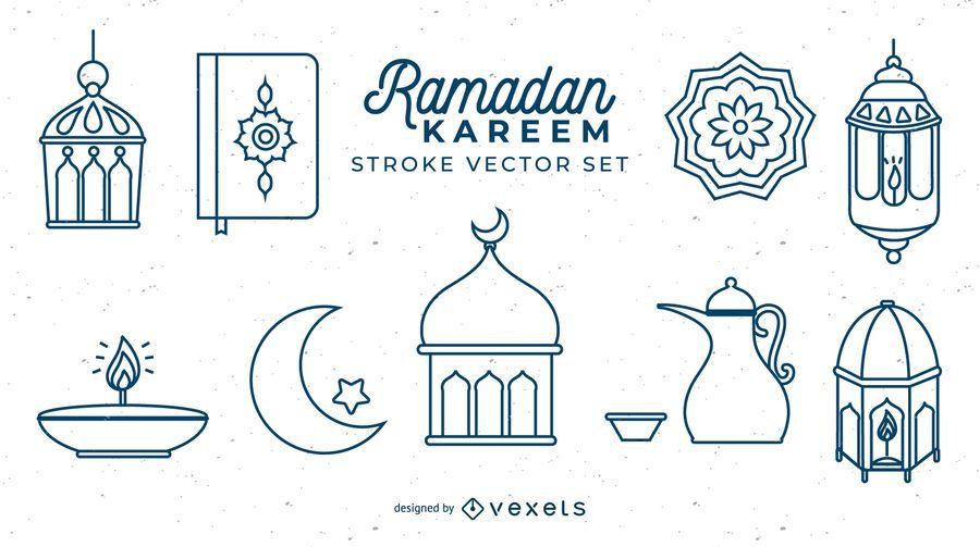 Ramadan Kareem Stroke Set