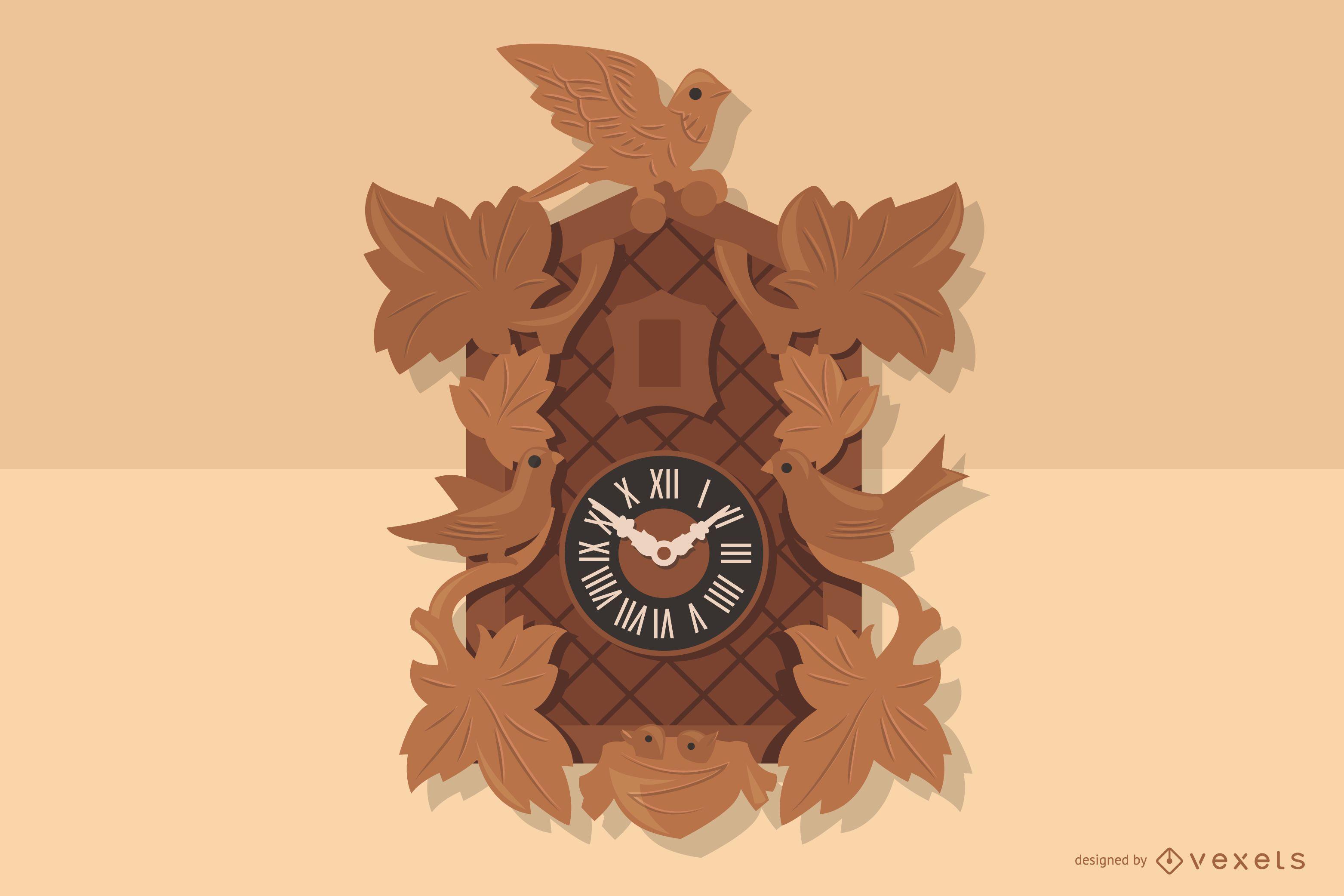 German Wooden Clock