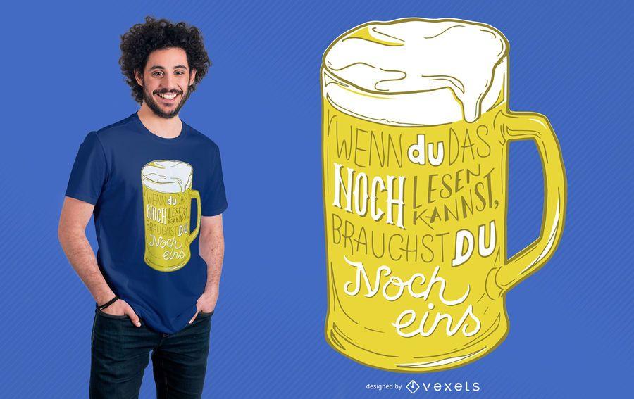 Alemán Otro diseño de camiseta de cerveza