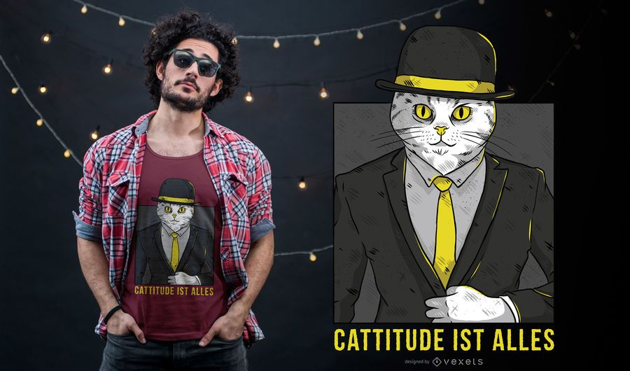 German Cattitude T-shirt Design