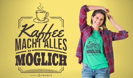 Diseño de camiseta de café alemán
