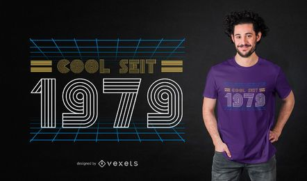 Deutscher cooler Retro T-Shirt Entwurf