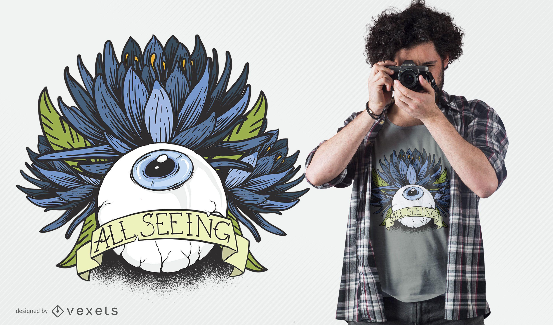 Diseño de camiseta todo visto