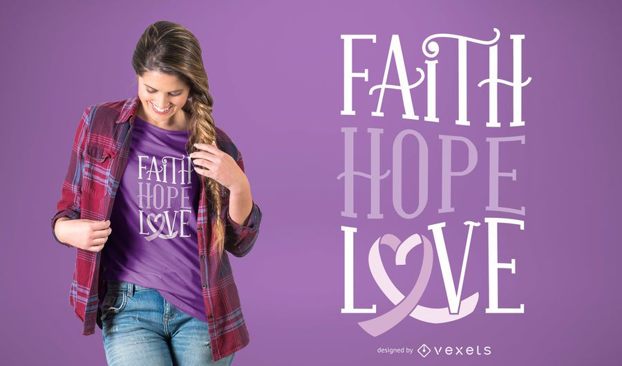 Faith hope love t-shirt design