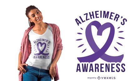 Alzheimer-Bandherzt-shirt Entwurf