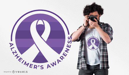 Diseño de la camiseta de la conciencia de Alzheimer