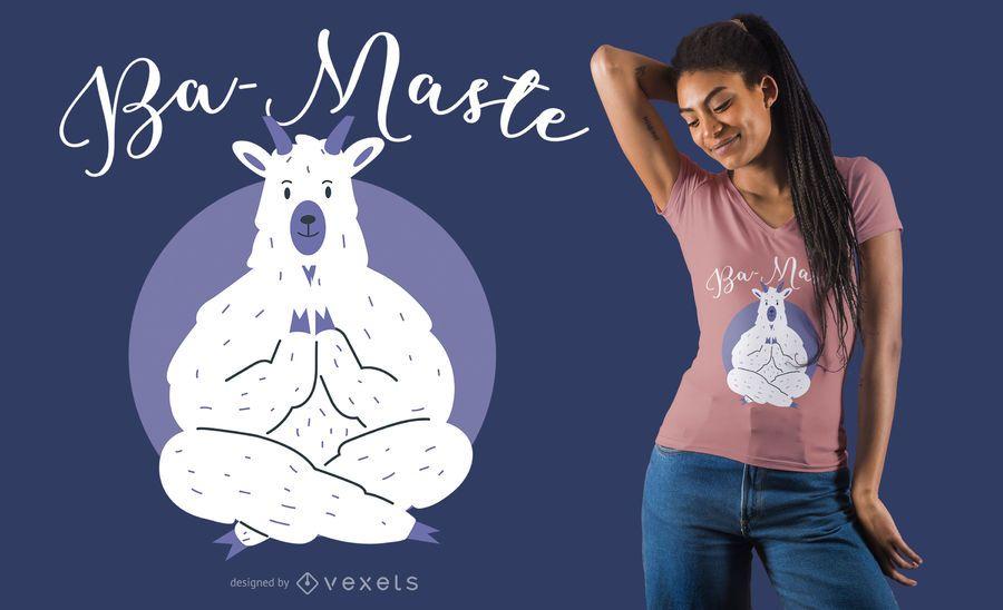 Diseño de camiseta de Yoga Llama