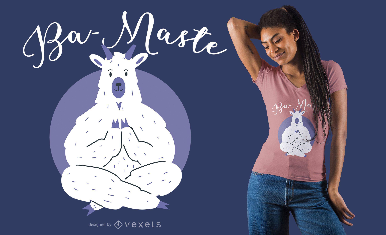 Diseño de camiseta Yoga Llama