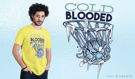 Diseño de camiseta de sangre fría