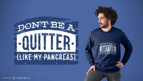 Design de t-shirt piada motivacional