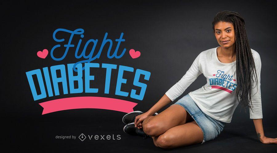 Projeto do t-shirt do diabetes da luta