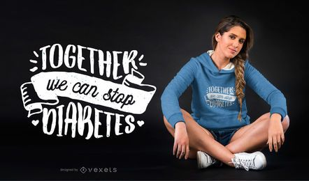 Pare o projeto do t-shirt do Diabetes
